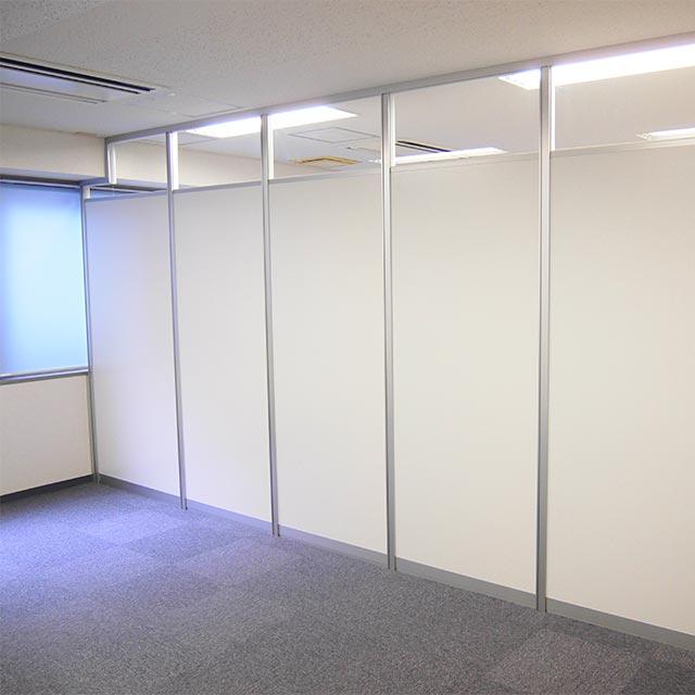 ミーティングルーム・会議室のパーテーション・間仕切り工事の施工事例002